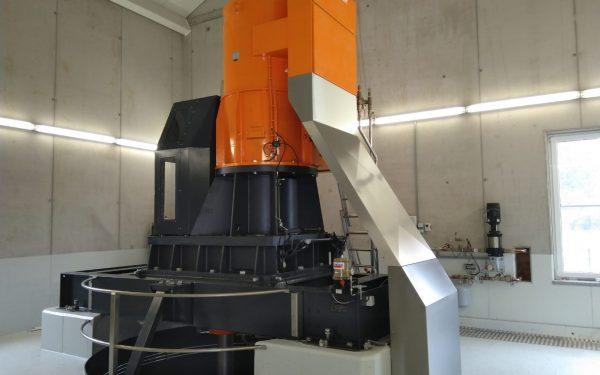 WWS Kaplan turbine with gearbox