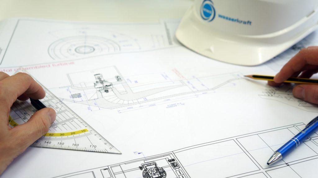 Turbinen Einbauzeichnung WWS-Wasserkraft