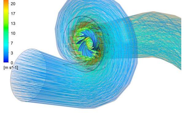 CFD-Simulation Francis Spirale Laufradoptierung Weiterentwicklung