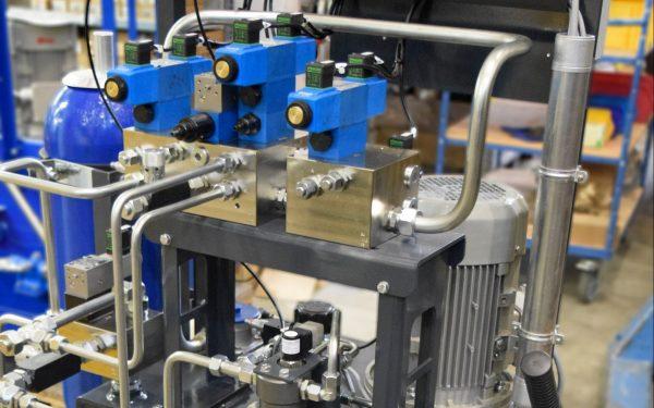 Hydraulikblöcke Ventilaufbau höchste Leistung WWS Wasserkraftwerke