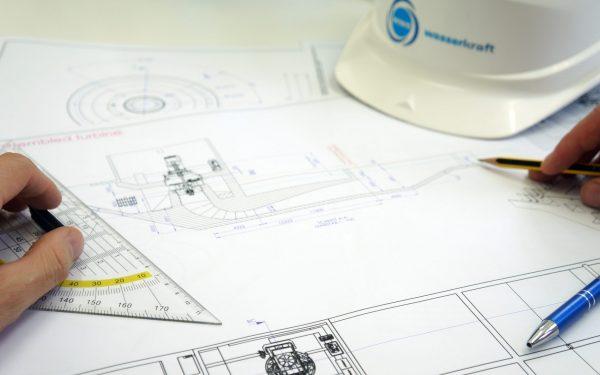 Turbinen Einbauzeichnung WWS Wasserkraft Kaplan Turbine