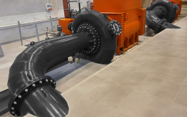 WWS Francis turbines with horizontal shaft