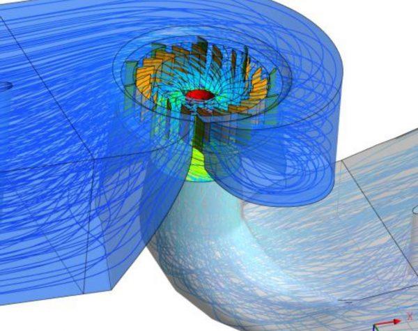 Моделирование турбины Каплана WWS Wasserkraft с применением методов вычислительной гидродинамики