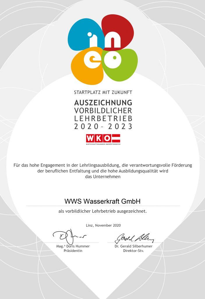 WWS Lehrlinge Auszeichnung Vorbild Wasserkraft